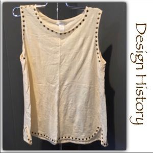 Design History Nailhead Trim Sleeveless Top